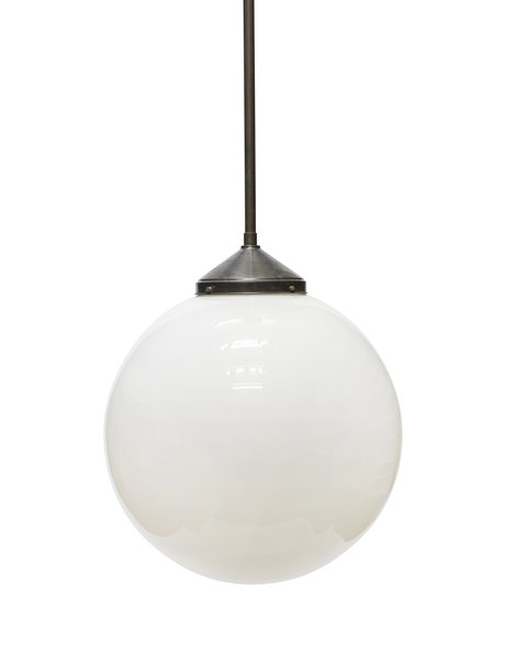 Very large hanging lamp, 50cm / 19.7 inch, white glass sphere