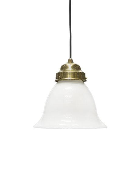 Klassiek hanglampje, wit glazen kelk aan snoer