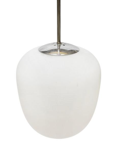 Vintage design hanging lamp, Swedish, white glass, 1950s