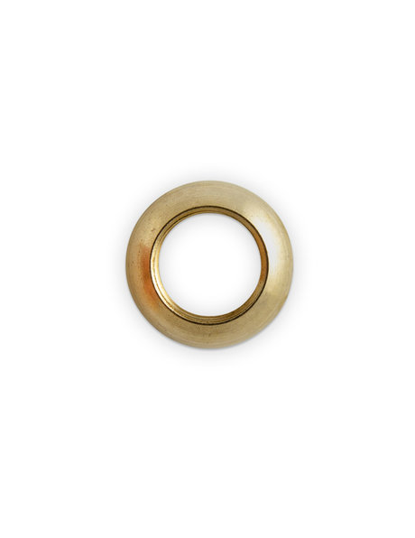 Messing moer, rond, 2.0 cm, M13x1 draad