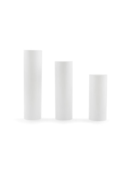 Sleek Candle Socket Cover for Chandelier, e14 (small fitting), hight: 10cm / 3.9in, white colour