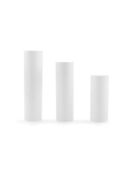 Strakke Kaarshuls, e14 (kleine fitting), 10.0 cm hoog, witte kleur