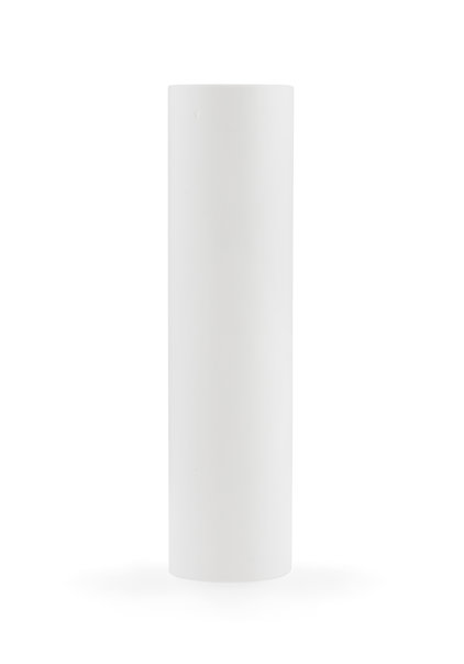 Candle Sleeve for Chandelier, White, Sleek Model, 10x2.35 cm / 3.9x0.93 in