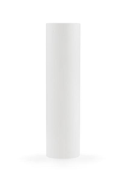 Kaarshuls, wit, strak model, 10x2.35 cm