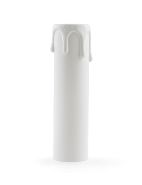 Kaarshuls voor kleine fitting, 10 cm hoog, met rustieke druppels