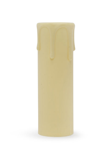 Kaarshuls, E14, Creme, Druppels, 9.0 x 2.7 cm