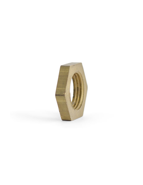Flat Brass Nut, M16, 5 mm / 0.2 inch thick
