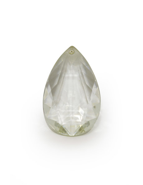 Luster parts, glass bead in drop shape