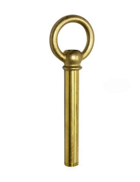 Hanging Loop, large model, brass, M10x1 internal thread