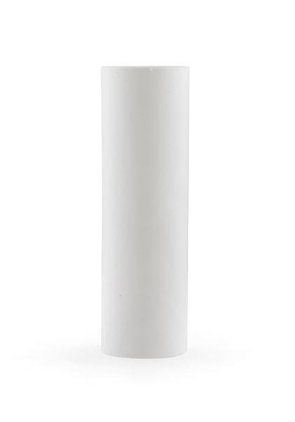 Candle Sleeve, White, Sleek Model : 8.5x2.3 cm  /  3.4x0.9 inch
