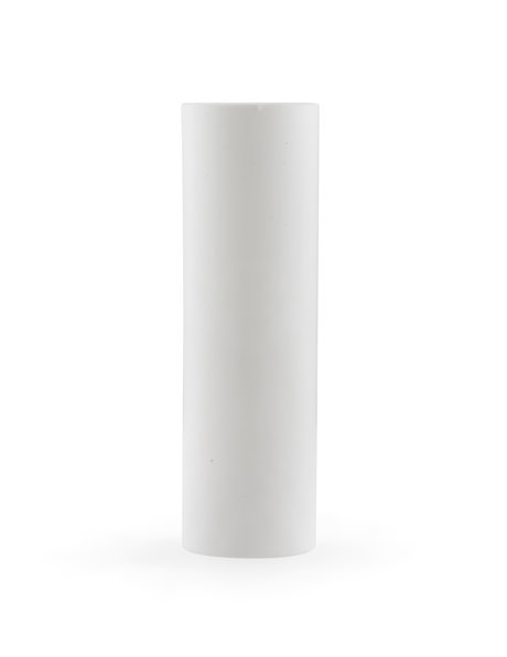 Sleek Candle Socket Cover, withour droplets, white plastic, small size fitting e14.