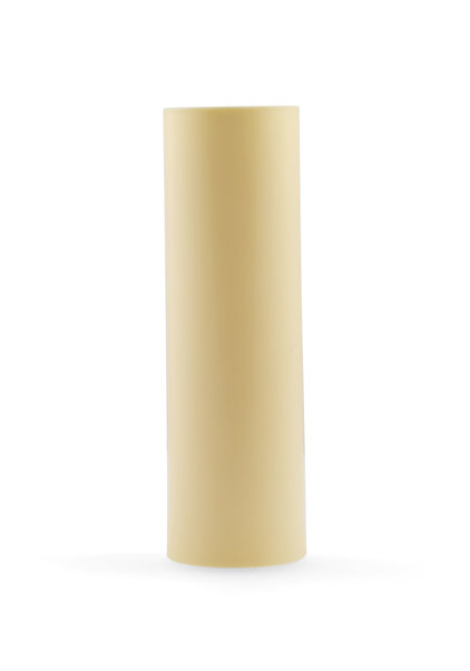 Candle Sleeve, Cream , Smooth Surface, 8.5x2.3 cm / 3.4x0.9 inch