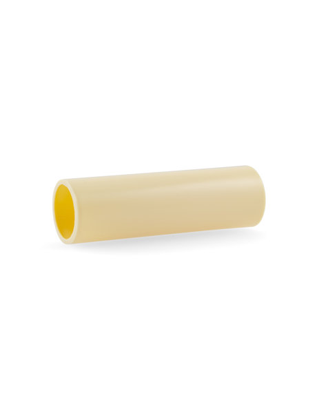 Cream coloured candle sleeve without drops for small fitting