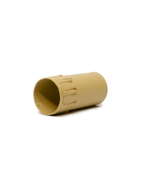 Kaarshulzen kroonluchter: 'burned look', 8.5 cm hoog, binnenmaat 3.95 cm, grote fitting
