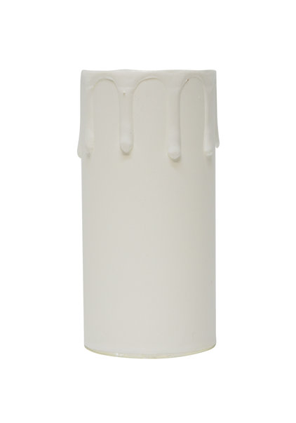 Candle Sleeve, White, Length: 8.5 cm / 3.35 inch, Internal Diameter: 4.0 cm / 1.56 inch