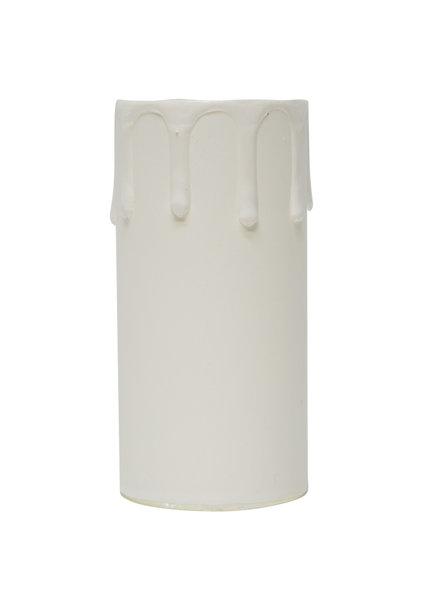 Kaarshuls, Wit, E27, 8.5 bij 4.0 cm binnenmaat