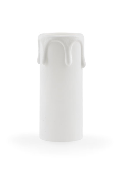 Candle Sleeve, E14, white drops, 7.0x2.7 cm / 2.8x1.1 inch