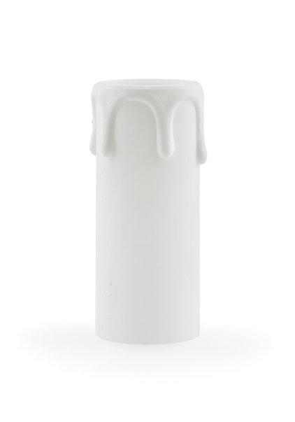 Kaarshuls, e14, wit, druppels, 7x2.7 cm