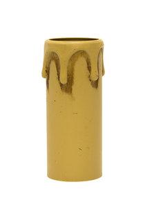Kaarshuls, Creme met Druppels: 7x2.7 cm