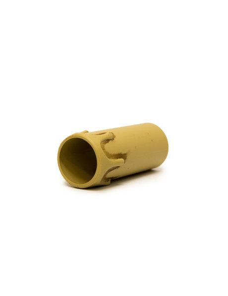 Kroonluchter kaarshuls, creme met druppels: 7 cm hoog bij 2.7 cm (binnenmaat)