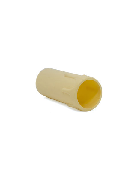 Candle Socket Cover, height: 6.5cm / 2.55 inch, internal diameter 2.4cm / 0.95 inch, light cream, with droplets