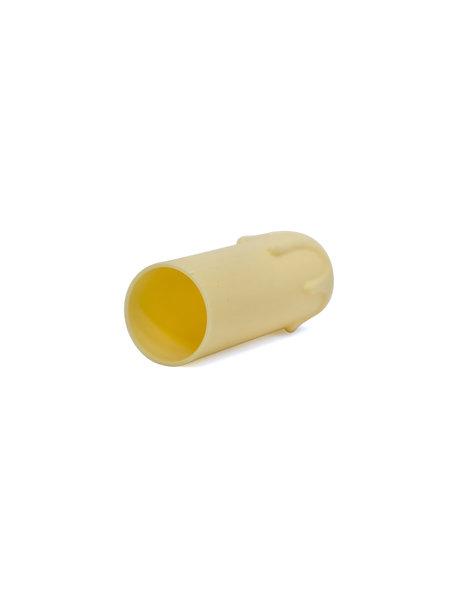 Kaarshuls, 6.5 cm hoog, 2.4 cm intern, licht creme, met druppels