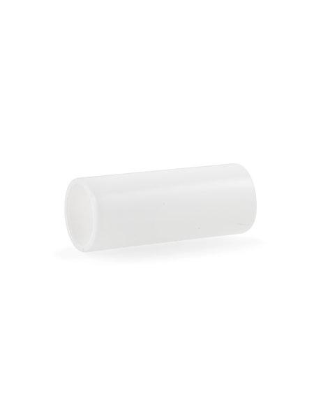 Kroonluchter kaarshuls, wit strak model: 6.5 cm hoog bij 2.4 cm binnenmaat