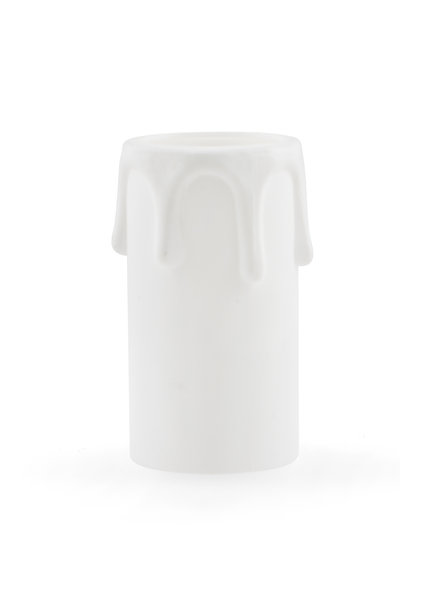 Candle Sleeve for Chandelier, White, with Drops, E14, 5.5 x 2.7 cm / 2.2 x 1.1 inch)