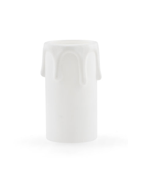 White candle socket cover for chandelier, small size fitting