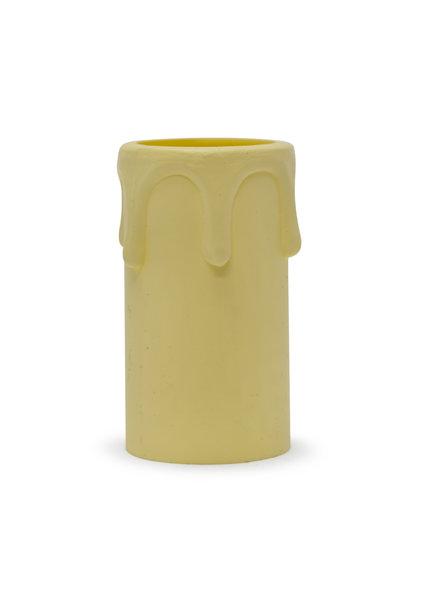 Candle Sleeve, E14, Cream, Drops, 5.4x2.7 cm / 2.1x1.1 inch