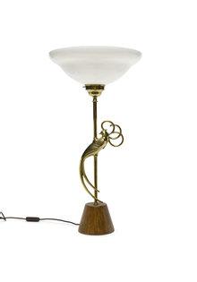 "Grote Vintage Tafellamp ""Gouden Vogel"", jaren 60"