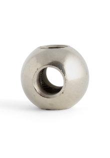 Pipe Connector, Sphere Shape (Ball), 4 Holes, Matt Silver, M13x1 Thread