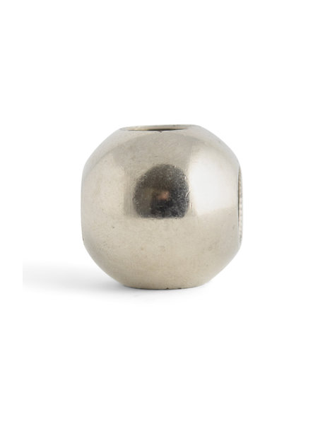 Matt silver connecting sphere (ball), 4 inputs of 1.3 cm / 0.51 inch (M13x1)