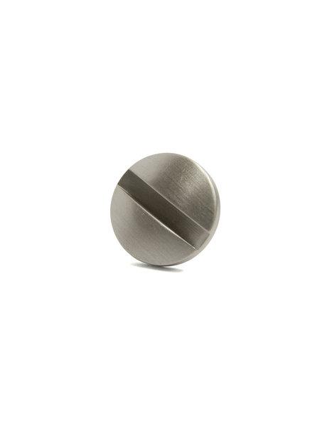 Moer met brede kop, mat zilver, m10x1