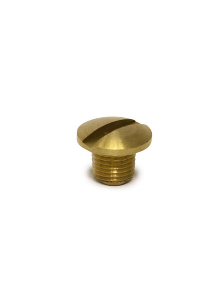 Brass screw, large flat head, M10x1 thread, ideal for Desk Lamps