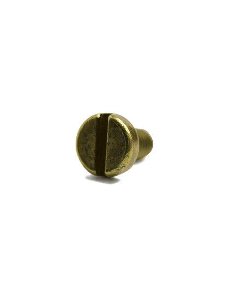Goudkleurig boutje, M3x1 draad, platte kop