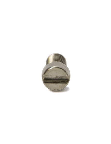 Bout, M3x1, zilverkleurig, platte kop