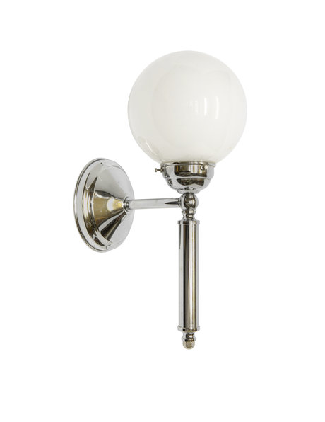 Classic wall lamp, chrome fixture, 1960s