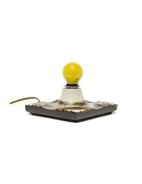 Retro tafellamp van keramiek, heerlijk Sixties