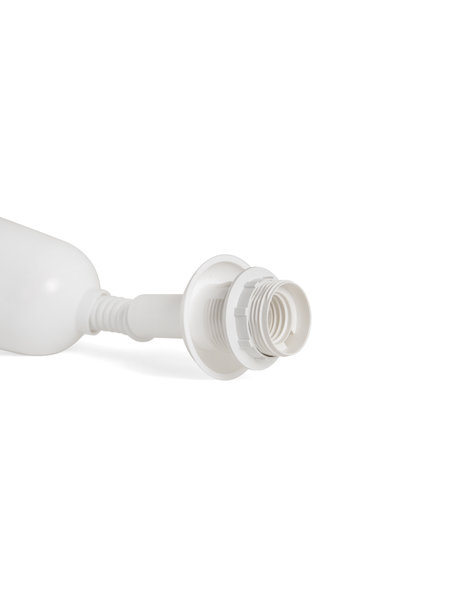 Spiral Cable, used for hanging lights with adjustable heights, white plastic