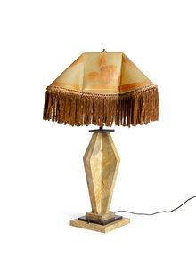 Art Deco Tafellamp, Marmeren Voet, Jaren 20