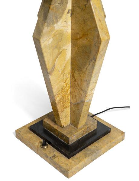 Art Deco tafellamp, unieke lampenkap, ca. 1920