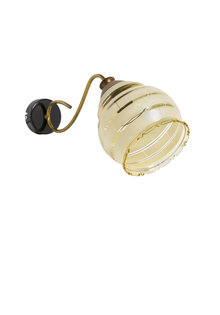 Vintage Wall Lamp, Cream-Coloured Glass