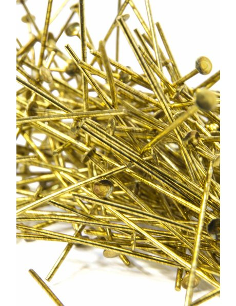 Chandelier parts, gold chandelier pin, length 2.6 cm (= 1.02 inch)