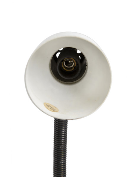 desk lamp, white and black, approx. 1970s