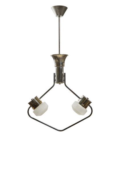 Design Hanglamp met Koperen Accenten