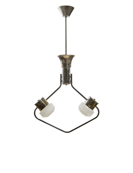 Design hanglamp, unieke vorm, 2 lichtpunten, ca. 1960