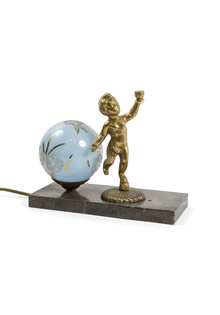 Small Table Lamp with Cherub