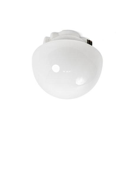 Industrial ceiling lamp, porcelain fixture, 1940s