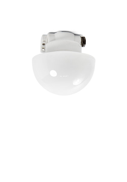 Industrial Ceiling Lamp, 1940's, Porcelain